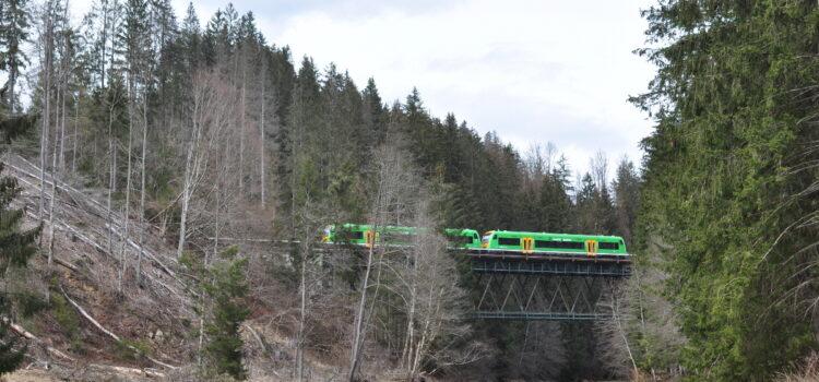 Die Brücken bei Schweinhütt (Strecke Plattling-Eisenstein)